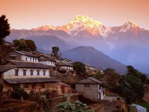 Nepal Ghandrung Village and Annapurna.jpg